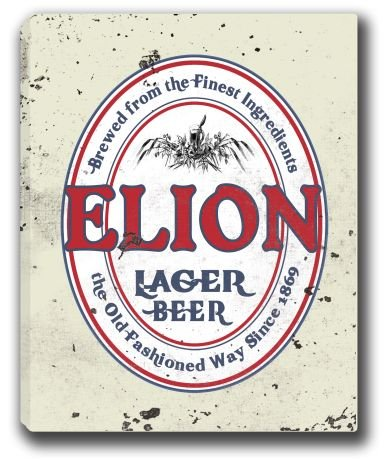elion-lager-beer-stretched-canvas-sign