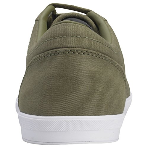 Fred Perry Men's Baseline Canvas Sneaker British Olive/Charcoal free shipping huge surprise cheap sale low price f483f