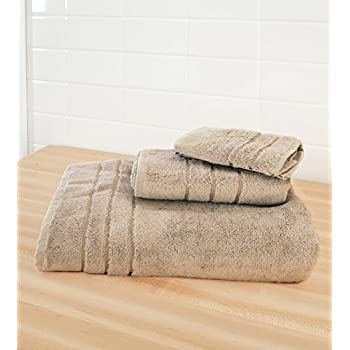 100% Bamboo Fiber - Towel Set (6 Piece), Chocolate 50%OFF