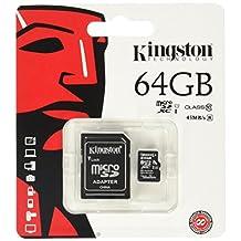 Kingston Digital 64GB MicroSDXC Class 10 Flash Card (SDCX10/64GB)