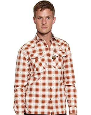 G-Star Co Western Long Sleeve Shirt in Brown/White, Size XXL $130