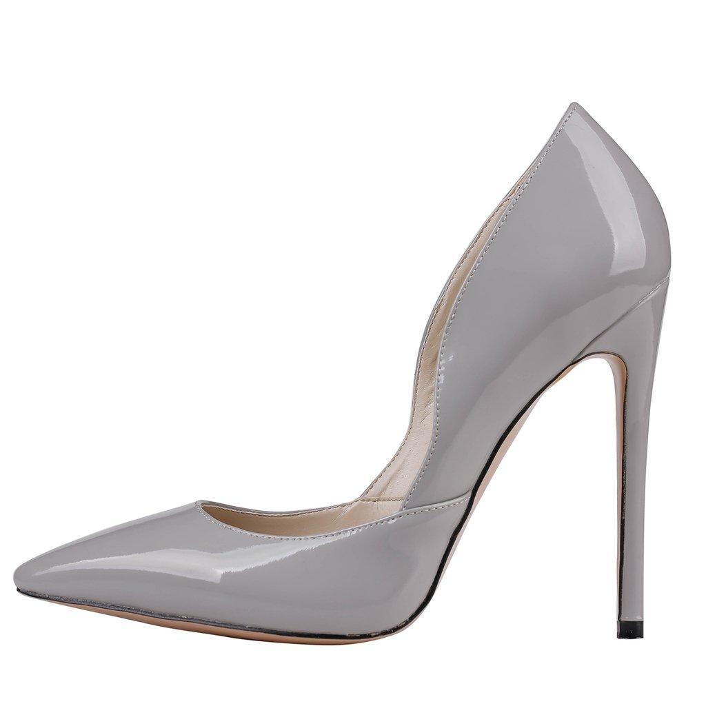 EKS - Zapatos de Tacón Mujer 45 UE Gris - Grau-Lackleder