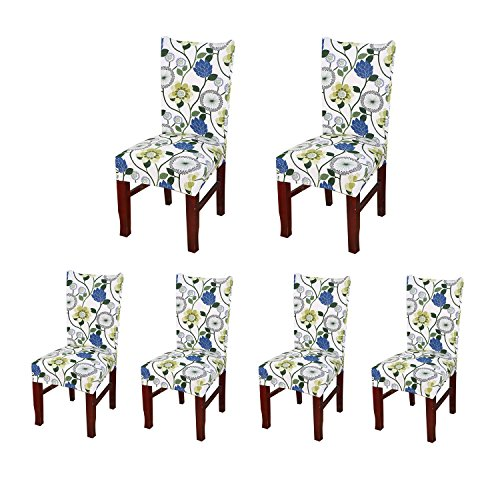 Jiuhong Stretch Removable Washable Short Dining Chair Protector Cover Slipcover (6, Style 11)