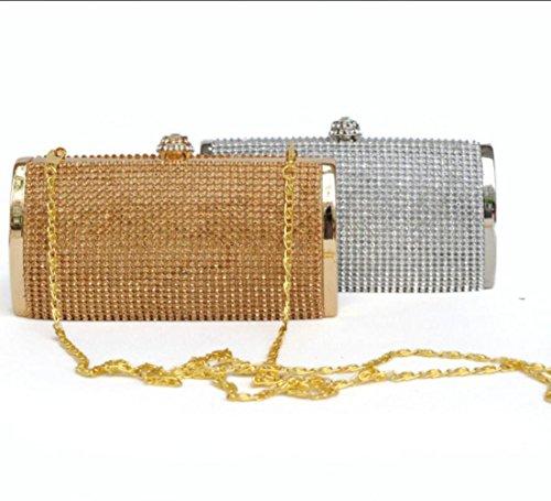 D'honneur Soir Mode Strass Sac à Demoiselle Coffret Silver Main Cadeau Mariée Du Pochette gFqYRw