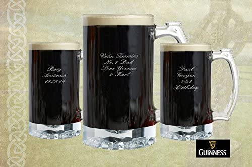 Guinness Large Durable Beer Glass Tankard Red And Black Guinness Extra Stout Badge