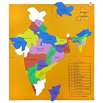 Buy Mapology States Of India Map Puzzle Educational Toy And - Us state map puzzle web game