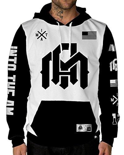 INTO THE AM Team Long Sleeve Hoodie Sweatshirt (Small)