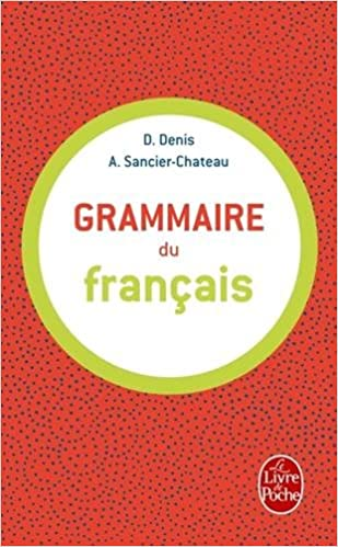 Grammaire Du Francais Livre De Poche English And French