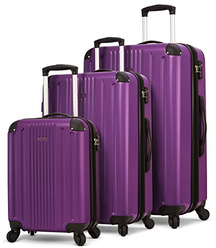TravelCross Milano Luggage Expandable Lightweight Spinner Set - Purple, 3 piece (20''/ 24''/ 28'') ()