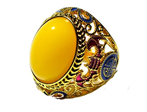 Handmademade Chinese Vintgae Beeswax Cloisonne Oval Adjust Ring Women