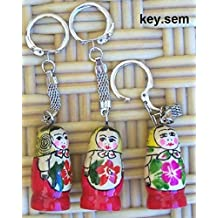 Russian Key Chain holder Senenovo nesting doll. key-sem