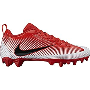 NIKE Men's Vapor Strike 5 TD Football Cleat University Red/White/Crimson/Black Size 9.5 M US