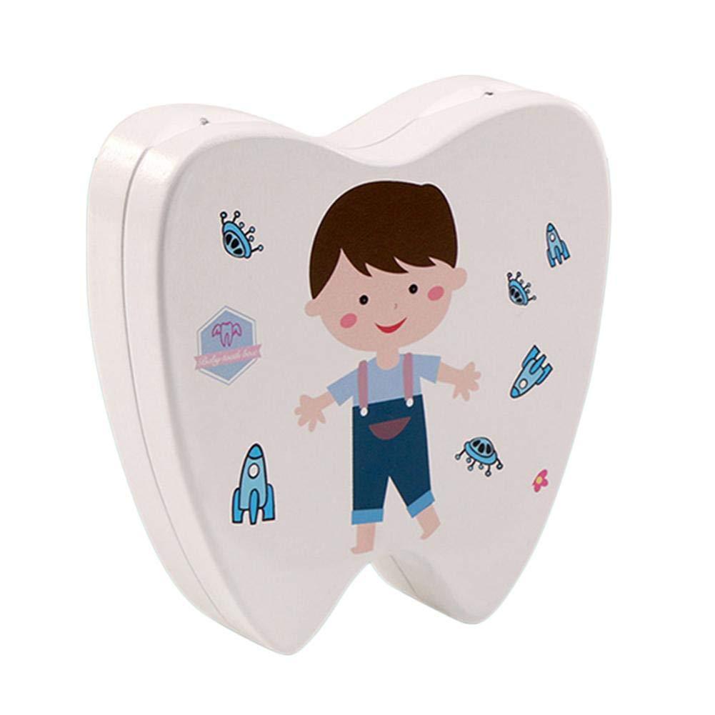 dientes Caja de dientes de leche para beb/és caja de colecci/ón Caja de madera para beb/és Dientes de hoja caduca Recuerdos dentales Cajas para ni/ños Memoria Leche Dientes Organizador ni/ñas ni/ños