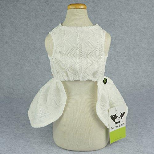 Fitwarm Elegant Floral Dog Sundress Pet Wedding Dress Vest Shirts Cat Clothes, White, XS by Fitwarm (Image #5)