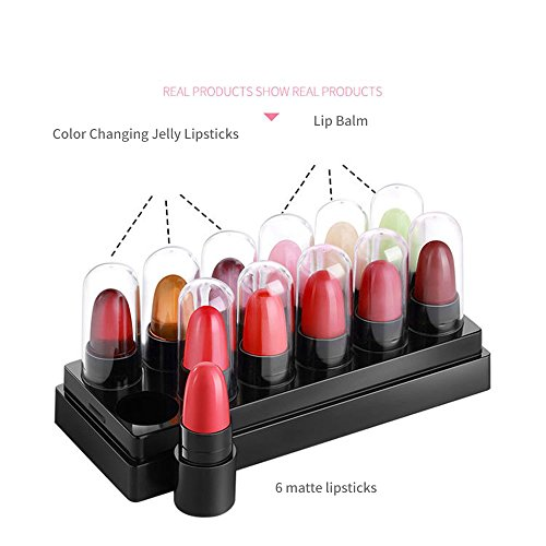 Latest 12 mini rouge matte lipsticks set contains 9 lipstick and 3 lip moisture balm pack (Classic Set)