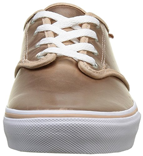 Vans Mädchen Camden Stripe Low-Top Gold ((Metallic Leather) Rugby Tan)