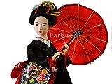 Red Japanese Geisha Kimono Doll - 12