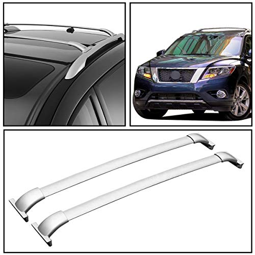 2pcs New Factory Style Silver Aircraft Aluminum Roof Rack Cross Bars Cargo Carriers Fit Nissan Pathfinder 2013-2018
