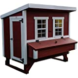OverEZ Large Chicken Coop for 15 Chickens with Nesting Box - Large Bird, Poultry and Hen House Made from Wood