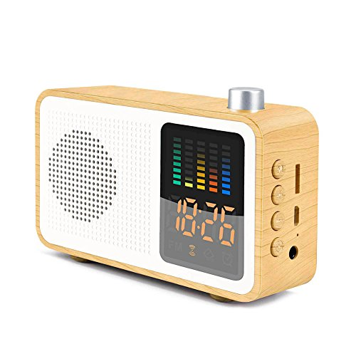 a98245298 SEATIGER Retro Portable Bluetooth Speaker with Digital Alarm Clock Radio FM