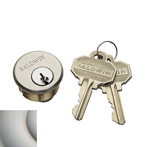Baldwin 8320.EMHT Pocket Door Mortise Lock Cylinder from the Estate Collection, Lifetime Satin Nickel