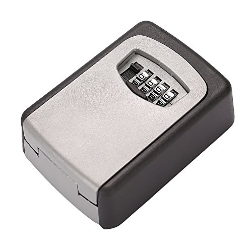 Tekmun Realtor Wall Mount Key Lock Box with 4-Digit Combination Made of Weather Resistant Steel for Indoors or Outdoors Holds up to 5 Keys by Tekmun (Image #1)