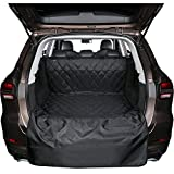 BONAWEN SUV Jeep Cargo Liner for Dogs Waterproof Cargo Liner Non Slip,Extra Bumper Flap Protector,3 Sizes(Black,M