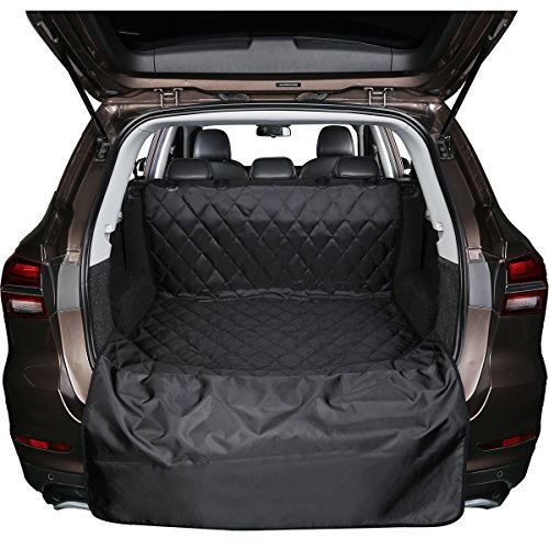 BONAWEN SUV Jeep Cargo Liner for Dogs Waterproof Cargo Liner Non Slip,Extra Bumper Flap Protector,3 Sizes(Black,M Review