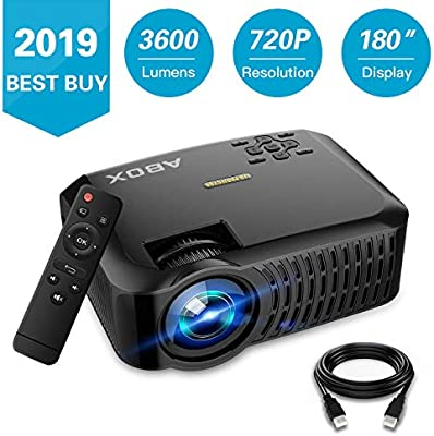 ABOX A2 Native 720P Portable Home Theater LCD HD Video Projector