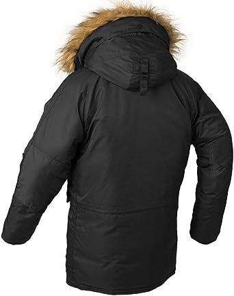 K3K Winter Mens Fashion Hooded Fur Collar Warm Down Jacket Coat