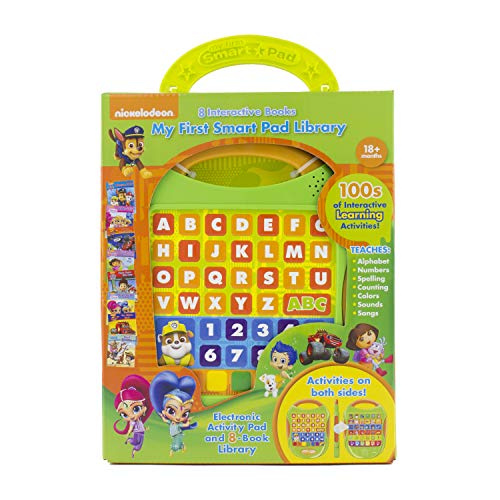 Nickelodeon PAW Patrol, Bubble Guppies, Blaze, more! My First Smart Pad Electronic Activity Pad and 8-Book Library - PI Kids