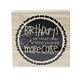 Hampton Art More Cake Wood Rubber Stamp