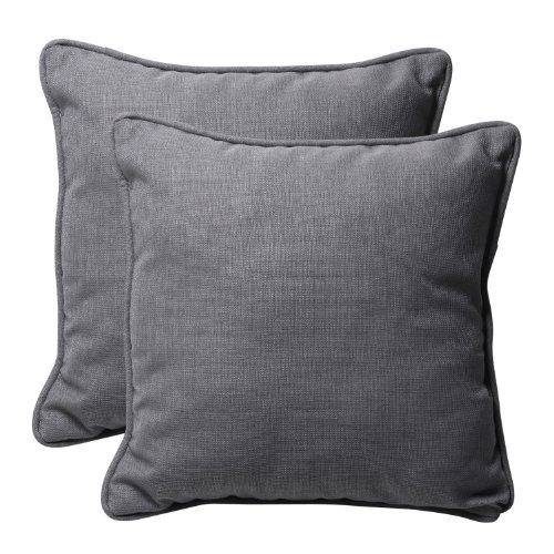 Pillow Perfect Decorative Textured Solid Square Toss Pillows, L x 18-1/2