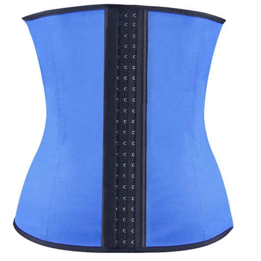 chuxin huang_Shapewear Women's Underbust Sport Girdle Waist Trainer Corsets Body Shaper Slimming Suit Blue by chuxin huang_Shapewear