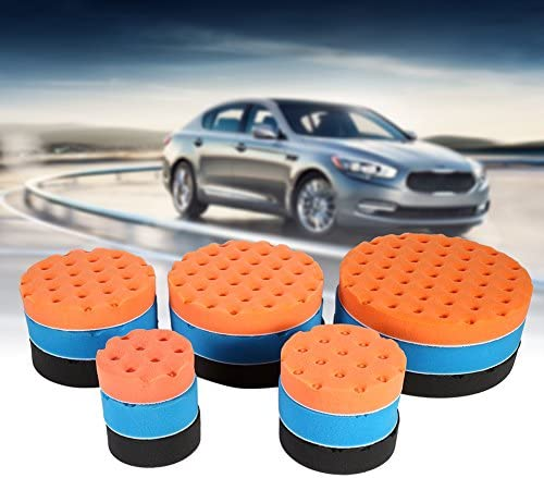 Terisass Polishing Pad 6 Inch 15 cm Car Cleaning Polishing Sponge Buffing Pads Kit Automobile Polishing Waxing Sponge Pad for Car Polisher Black