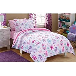 Super Cozy Kids Pretty Princess Bed in a Bag FULL Bedding Set, Perfect For Your Little Princess!