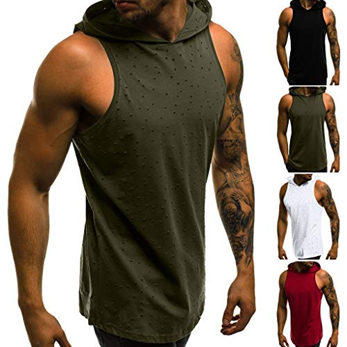 Mens Summer Tank Tops Camouflage Print Fitness Muscle Jumper T-Shirt Casual Sport Cool Designer Sleeveless Shirt Gym Holiday Cotton Bodybuilding Vest Top