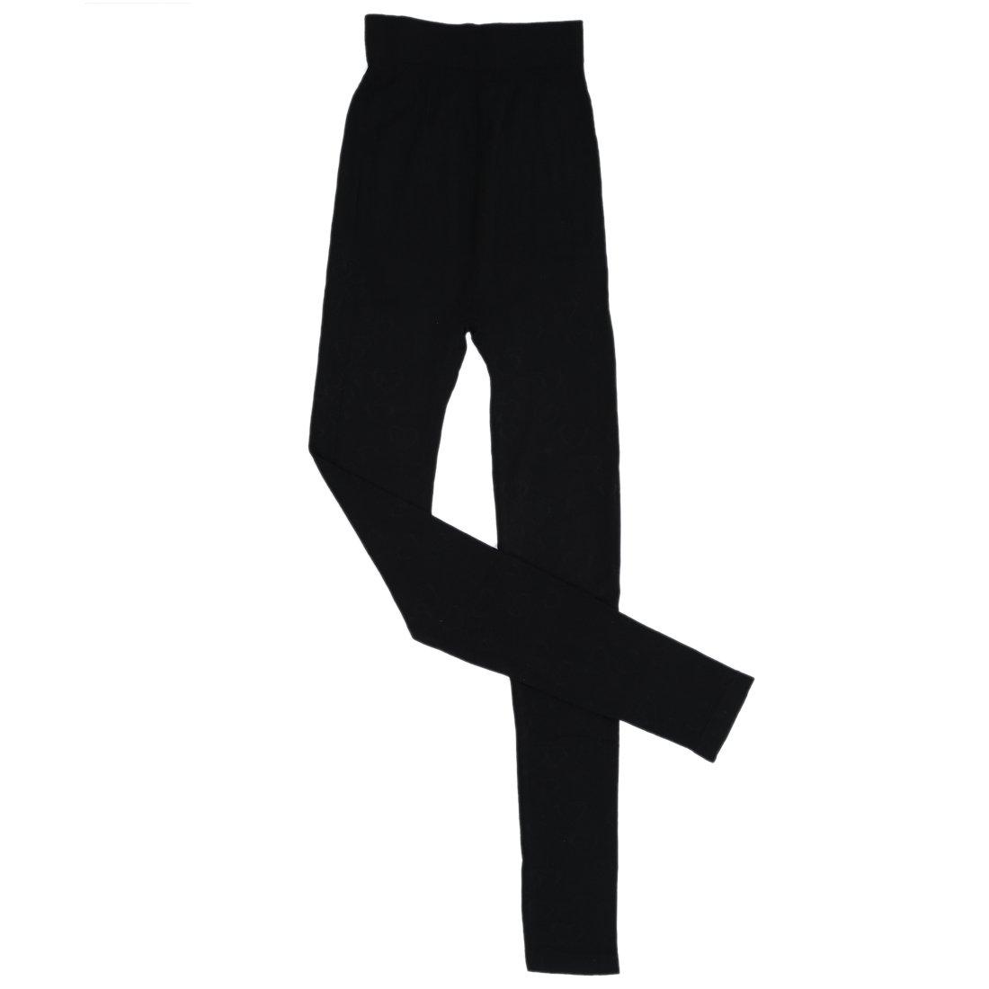 TOOGOO(R)Mujer Cuello redondo Conjunto termico Invierno Chaqueta&pantalones larga ropa interior Conjunto de Pijama Negro: Amazon.es: Deportes y aire libre