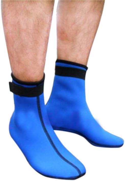 Buceo MeterMall Calcetines para Entrenamiento de nataci/ón Calcetines Largos de Neopreno de 3 mm para nataci/ón Zapatos de Playa