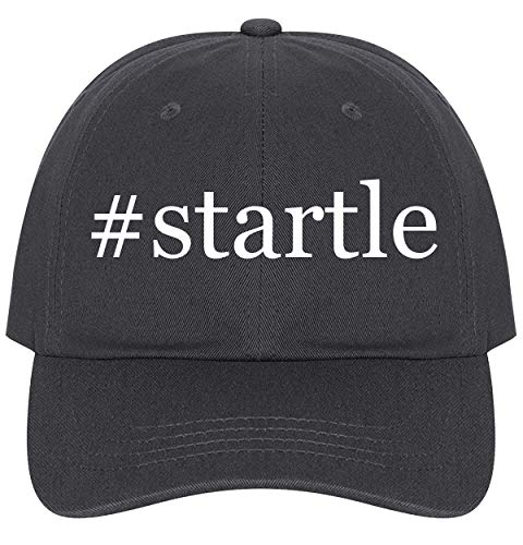 The Town Butler #Startle - A Nice Comfortable Adjustable Hashtag Dad Hat Cap, Dark Grey