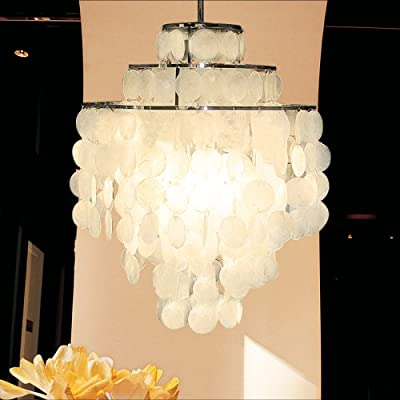 LightInTheBox LAMP Minimalist Shell Chandelier for Living Room Bedroom Den Chandelier MAX 60W