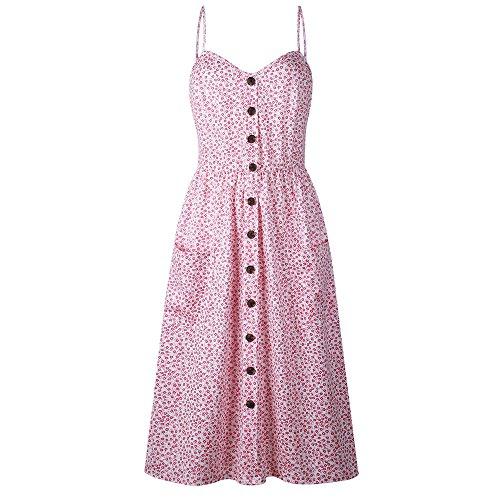 Lljin Fashion Womens Crochet Lace Backless Mini Slip Dress Camisole Sleeveless Dress (Pink 1, S) - Clothing Guess Designer