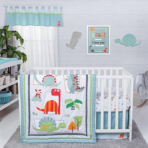 Trend Lab Dinosaur Roar 3 Piece Crib Bedding Set Multi [並行輸入品]   B077ZHXJXD