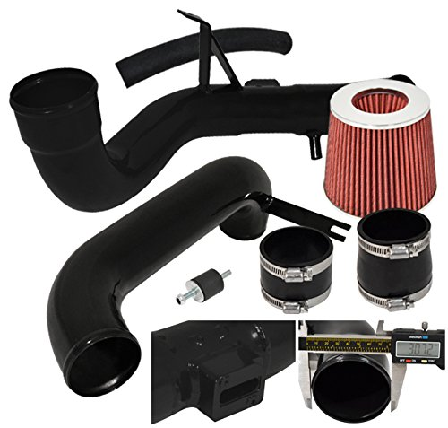 12-14 Civic 2dr 4dr 4cyl Jdm Racing Cold Air Intake Pipe System Black + Filter