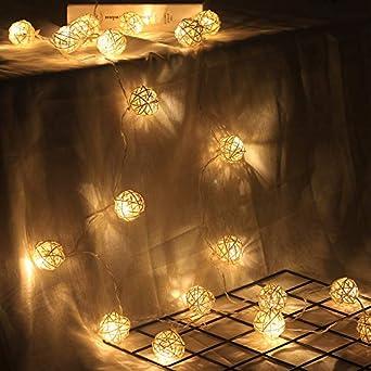Luces De Cadena Led Cortina Ventana Jardín Exterior Cuento De Hadas Luces Jardín De Verano Lámpara Led20 De 3,5 M, Cuerda De Rota Hecha A Mano, Usb Personalizada: Amazon.es: Iluminación
