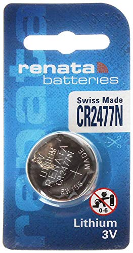 Renata CR2477N 3 Volt Lithium Battery (6 Batteries) ...