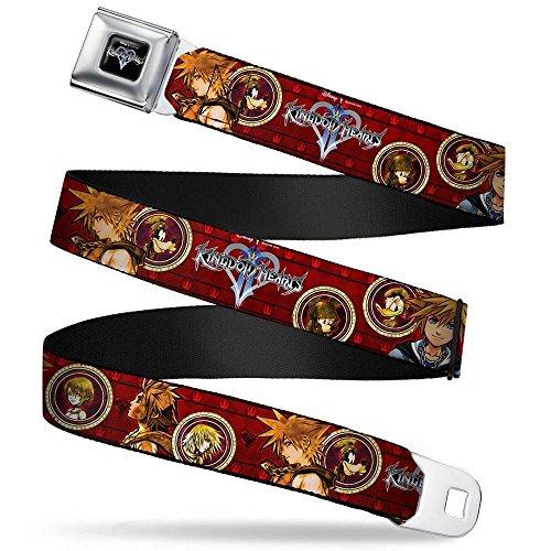 Cameo Belt - Buckle-Down Seatbelt Belt - KINGDOM HEARTS Sora Poses/Friend Cameos - 1.5