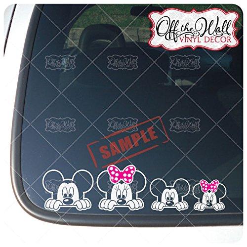 "Customize-able Mickey & Minnie Inspired ""PEEKING"" Stick Figu"