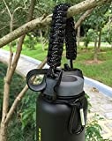 Handle for Hydro Flask - Paracord Survival Strap with Security Ring for Wide Mouth Water Bottles Carrier