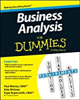 Business Analysis For Dummies Front Cover